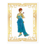 Vintage Edwardian Gown Fashion Vintage Art Postcard