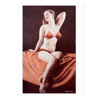 Vintage Edwardian Mutoscope Pin Up Pinup Girl Postcard
