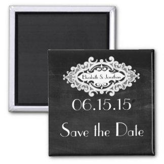 Vintage Edwardian Save the Date Magnet