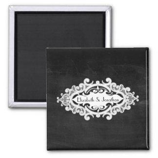 Vintage Edwardian Wedding 2 Inch Square Magnet