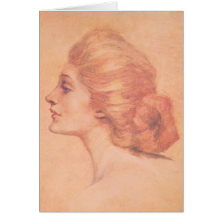 Vintage Edwardian Woman Delineator Cover Gibbs Card