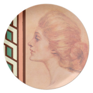 Vintage Edwardian Woman Delineator Cover Gibbs Plate