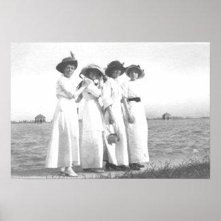 Vintage Edwardian Women Poster