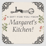 Vintage egg beater bakery baking gift tag label square stickers