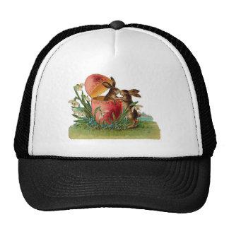 Vintage Egg & Easter Rabbits Kissing Trucker Hat