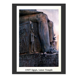 Vintage Egipto 1900 Luxor Temple Postal