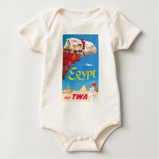 Vintage Egypt Air Travel Advertisement Baby Bodysuit