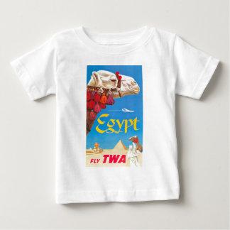 Vintage Egypt Air Travel Advertisement Baby T-Shirt