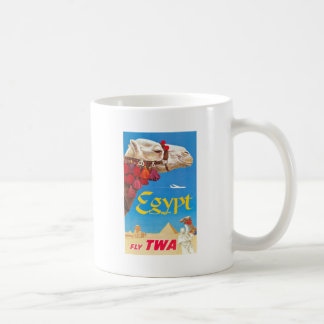 Vintage Egypt Air Travel Advertisement Coffee Mug
