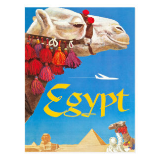 Vintage Egypt Air Travel Advertisement Postcard