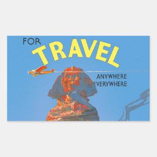 Vintage Egypt Air Travel Advertisement Rectangular Sticker