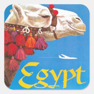 Vintage Egypt Air Travel Advertisement Square Sticker