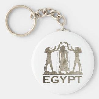 Vintage Egypt Basic Round Button Keychain