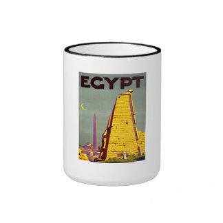 Vintage Egypt Pyramid Travel Poster Coffee Mug