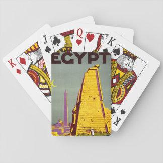 Vintage Egypt Pyramid Travel Poster Poker Cards