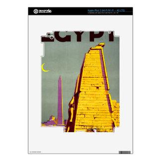 Vintage Egypt Pyramid Travel Poster iPad 3 Decal