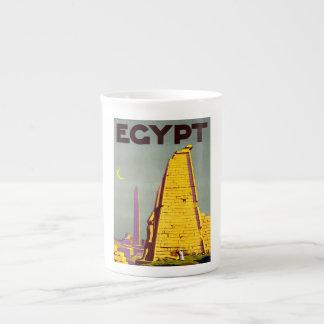 Vintage Egypt Pyramid Travel Poster Bone China Mugs