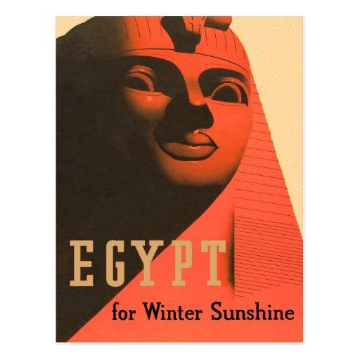 Vintage Egypt Sphinx Postcard