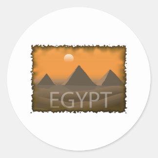 Vintage Egypt Classic Round Sticker
