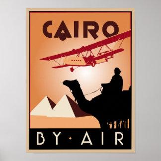 Vintage Egypt travel art deco Print