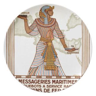 Vintage Egypt Travel Melamine Plate