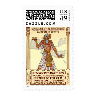 Vintage Egypt Travel Postage Stamp