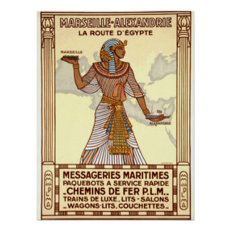 Vintage Egypt Travel Poster