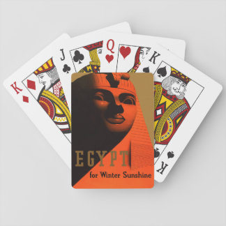 Vintage Egypt Travel Poster Playing Cards