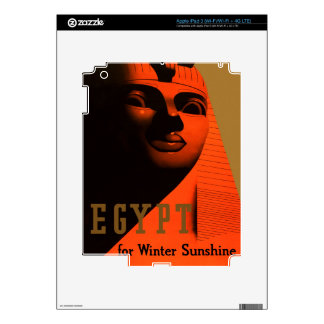 Vintage Egypt Travel Poster Decals For iPad 3