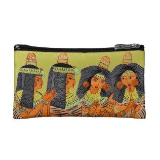 Vintage Egyptian Fashion Women Green Yellow Orange Cosmetics Bags