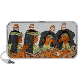 Vintage Egyptian Fashion Women Green Yellow Orange Portable Speakers