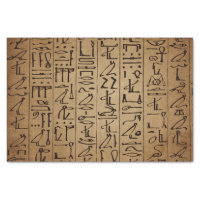Vintage Egyptian Hieroglyphics Paper Print