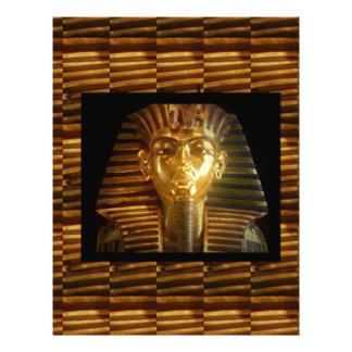 VINTAGE Egyptian Idols Art : PYRAMIDS of ANCIENT Letterhead Design