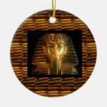 VINTAGE Egyptian Idols Art : PYRAMIDS of ANCIENT Christmas Tree Ornament