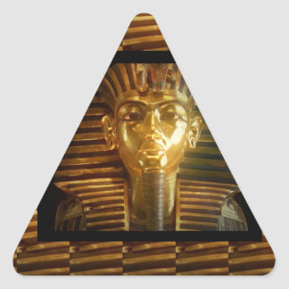 VINTAGE Egyptian Idols Art : PYRAMIDS of ANCIENT Triangle Sticker