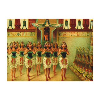 Vintage Egyptian Painting Gallery Wrap Canvas