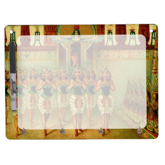 Vintage Egyptian Painting Dry Erase Board With Keychain Holder