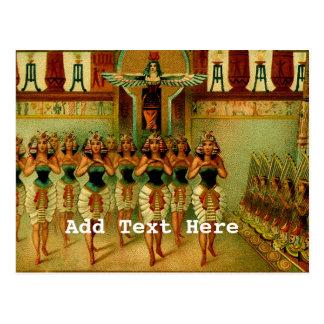 Vintage Egyptian Painting Postcard