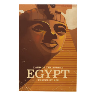 Vintage Egyptian vacation poster