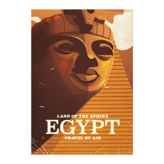 Vintage Egyptian vacation poster Canvas Print