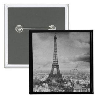 Vintage Eifel Tower Paris France  1889 Pinback Buttons