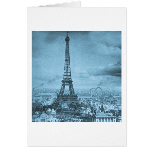 Vintage Eifel Tower Paris France  1889 Card