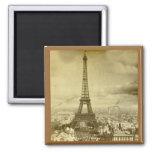Vintage Eifel Tower Paris France  1889 Refrigerator Magnets