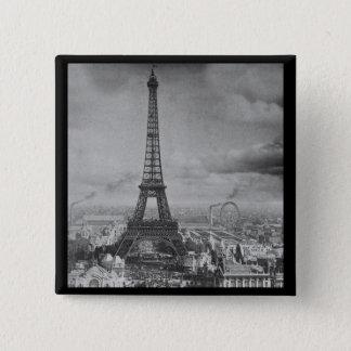 Vintage Eifel Tower Paris France  1889 Pinback Button