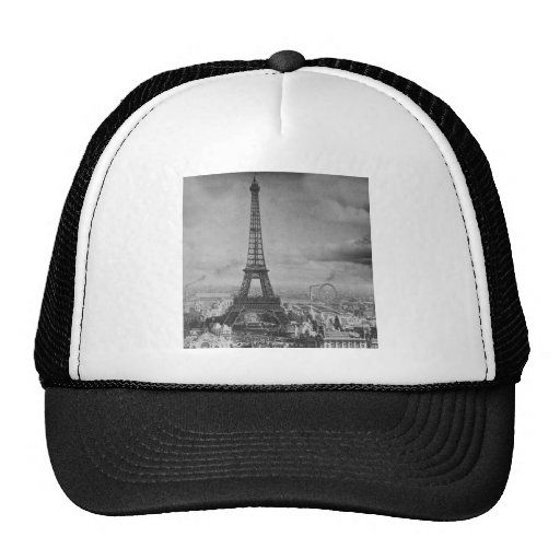 Vintage Eifel Tower Paris France  1889 Trucker Hat