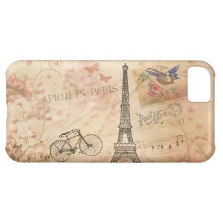 Vintage Eiffel Tower Art Case For iPhone 5C