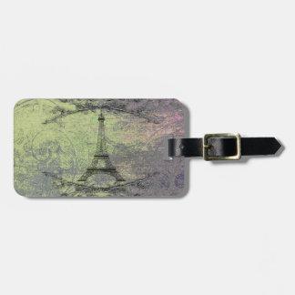 Vintage Eiffel Tower Bag Tag