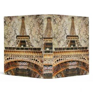 Vintage Eiffel Tower Binder binder