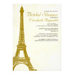 Vintage Eiffel Tower Bridal Shower Invitations Personalized Invitation