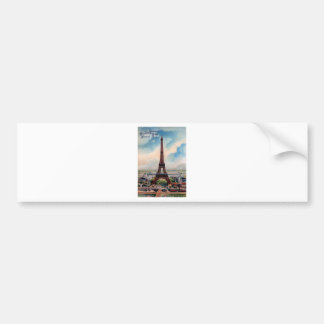 Vintage Eiffel Tower Bumper Sticker